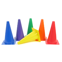 RIGID PLASTIC CONES 12IN SET OF 6
