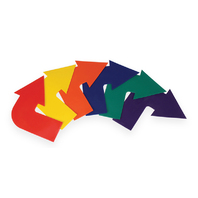 CURVED ARROW MARKERS SET OF 6