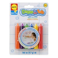 ALEX® Toys - Bathtime Fun Draw In The Tub Crayons (6) 639R