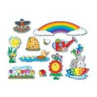 Spring Mini Bulletin Board Sets / BBS - Multi-Colored; no. CD-110048