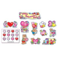 Valentines Day Mini Bulletin Board Sets / BBS - Multi-Colored; no. CD-110060