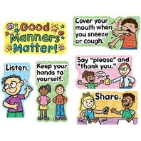 Good Manners Matter Mini Bulletin Board Sets / BBS - Multi-Colored; no. CD-110109