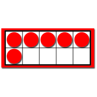 TEN FRAMES AND COUNTERS COLORFUL