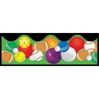 BB Scalloped Borders: Sports Balls