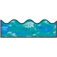 BBS Bulletin Board Sets Border - Ocean Waves Scalloped / 13 Strip Pack; no. CD-1240