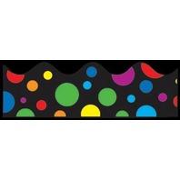BBS Bulletin Board Sets Border - Rainbow Dots / 13 Strip Pack; no. CD-1255