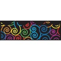 BB Scalloped Borders: Rainbow Swirls