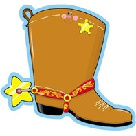 Cowboy Boot Novel Notepad; 50 Sheets