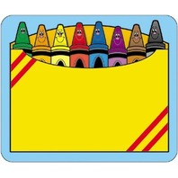 Crayon Box Name Tags; 40 Per Pack