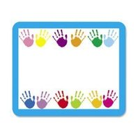 Handprints Name Tags; 40 Per Pack