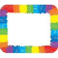 Rainbow Name Tags; 40 Per Pack
