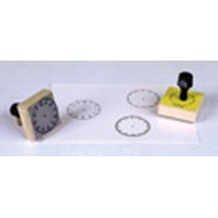 Rubber Stamp Set / 3 Clock Faces - 5 Min./60 Min./Hour; no. CE-099