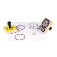 Large 24 Hour Clock Rubber Stamp: Time Teaching Aid; no. CE-101