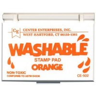 Stamp Pad; Washable - Orange