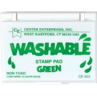 Stamp Pad - Green; Washable Ink - 2-1/4 x 3-3/4; no. CE-503