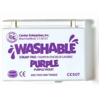 Stamp Pad - Purple; Washable Ink - 2-1/4 x 3-3/4; no. CE-507