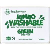 Jumbo Stamp Pad - Green; Washable Ink; 6-1/4 x 4; no. CE-5503