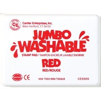 Jumbo Stamp Pad - Red; Washable Ink; 6-1/4 x 4; no. CE-5505