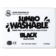 Jumbo Stamp Pad - Black; Washable Ink; 6-1/4 x 4; no. CE-5506