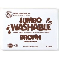 Jumbo Stamp Pad - Brown; Washable Ink; 6-1/4 x 4; no. CE-5511