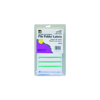 FILE FOLDER LABELS GREEN