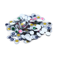 WIGGLE EYES ROUND 15MM BLACK 50CT
