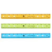 TRANSLUCENT 12IN PLASTIC RULER