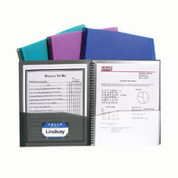 C-LINE 8 POCKET SPIRAL BOUND POLY