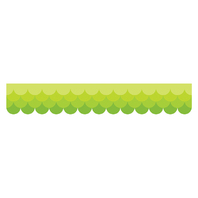 OMBRE LIME GREEN SCALLOPS BORDERS