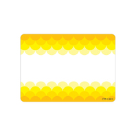 OMBRE YELLOW SCALLOPS LABELS