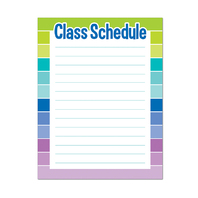 CLASS SCHEDULE CHART - PAINT