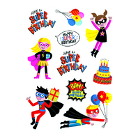 SUPERHEROES BIRTHDAY STICKERS