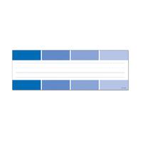 BLUE PAINT CHIP NAME PLATES - PAINT