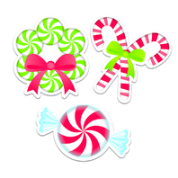 PEPPERMINT CANDIES 6IN CUT OUTS