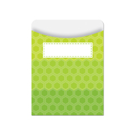OMBRE LIME GREEN HEXAGONS LIBRARY