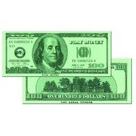 $100 Play Money Bills; Set of 50; no. CTU7504