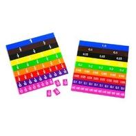 Fraction & Decimal Tiles in Storage Bag; 51 Tiles Set; no. CTU7673