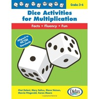 Dice Activities for Multiplication, Grades 3-6