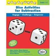 Dice Activities for Subtraction, Grades 1-3