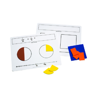 WRITE ON WIPE OFF FRACTION MATS