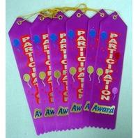 "Participation Award Ribbon 2"" x 8"" Party Accessory"