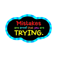 MAGNETIC WHITBOARD MISTAKE QUOTE