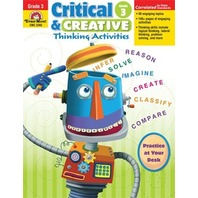 Evan-moor Emc3393 Critical And Creative Thinking Activities Gr 3