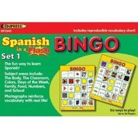 Spanish In A Flash Bingo - Set 1; no. EP-2345