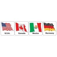 Eureka Eu-65508 Stickers World Flags