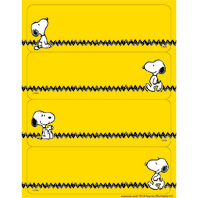 PEANUTS YELLOW LABEL STICKERS