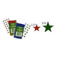 "Eureka Presto-Stick(R) Foil Stars, 1/2"", Silver, Pack Of 250"