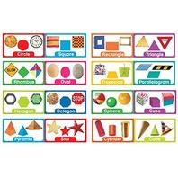 Eureka Shapes and Solids Mini Bulletin Board Sets