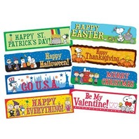 Eureka Peanuts Year of Holidays Mini Bulletin Board Sets