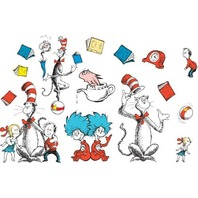 "Eureka Dr. Seuss's Cat in the Hat Large Characters Bulletin Board Set, 4 Panels 17 x 24"" Each"